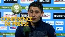 Conférence de presse AJ Auxerre - Havre AC (0-1) : Pablo  CORREA (AJA) - Oswald TANCHOT (HAC) - 2018/2019
