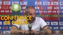 Conférence de presse AS Béziers - Clermont Foot (1-1) : Mathieu CHABERT (ASB) - Pascal GASTIEN (CF63) - 2018/2019