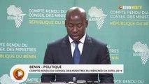 Bénin : compte rendu du conseil des ministres du mercredi 24 avril 2019
