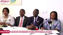 Les groupes parlementaires PDCI-RDA, Rassemblement et Vox Populi dénoncent les agissements du président de l'assemblée Nationale