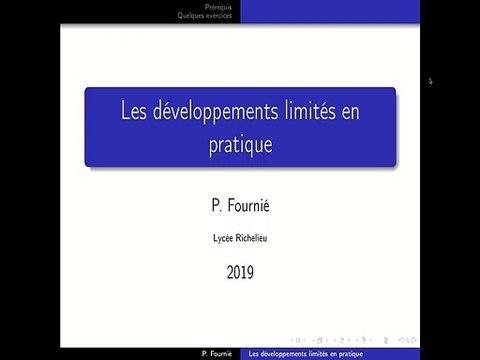 Calcul pratique de développements limités