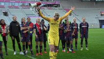 La joie et les réactions après la victoire face à Bordeaux