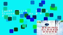 [BEST SELLING]  Behind Closed Doors by B A Paris