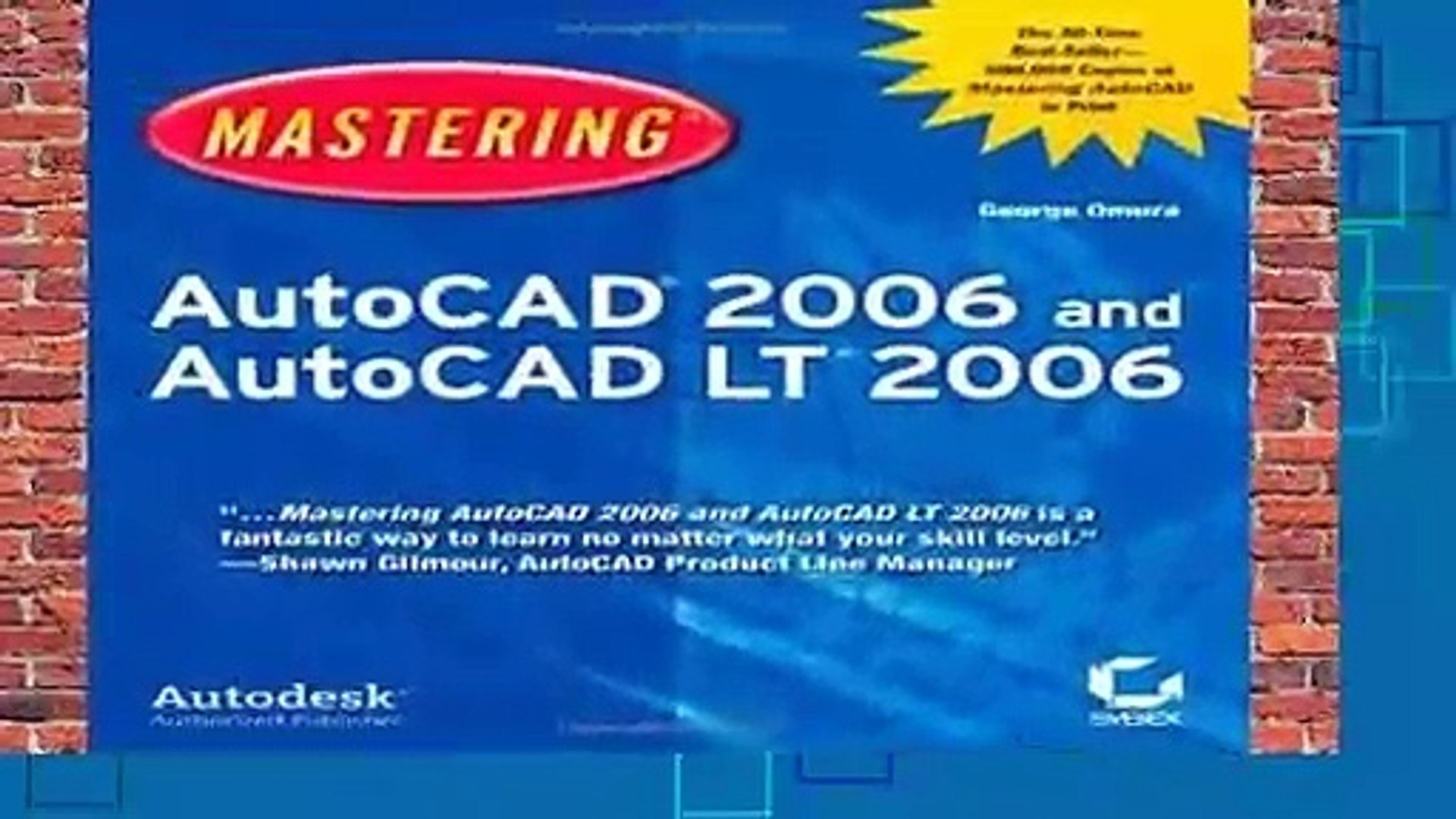 Full E-book  Mastering AutoCAD 2006 and AutoCAD LT 2006  Review