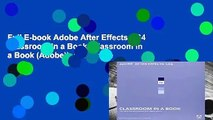 Full E-book Adobe After Effects CS4 Classroom in a Book (Classroom in a Book (Adobe))  For Kindle
