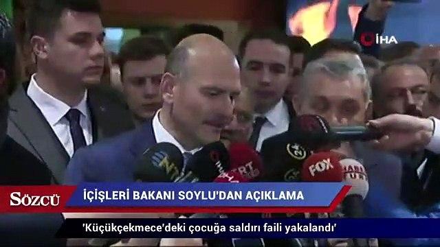İçişleri Bakanı Süleyman Soylu: Küçükçekmece'deki çocuğa saldırı faili yakalandı