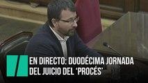 En directo: sesión 38 en la duodécima semana del juicio del 'procés'
