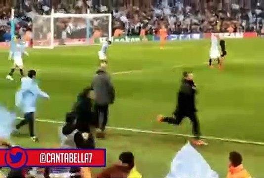 Guardiola pasa de la euforia a la tristeza tras anular su gol el VAR