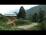 Driving from Thimphu to Dochula pass