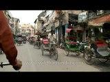 Ride on a cycle rickshaw through Chandni Chowk