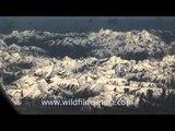 Flying over the Ladakh and Zanskar ranges