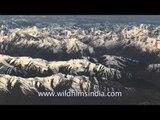 On the flight from Delhi to Ladakh