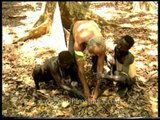 Anthropologist teaches Jarawas how to plant saplings!