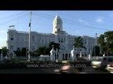 Fresh white Corporation of Chennai building