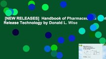 [NEW RELEASES]  Handbook of Pharmaceutical Controlled Release Technology by Donald L. Wise