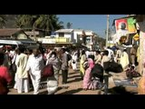 Sharavanbelagola town hustling with pilgrims from all over the world