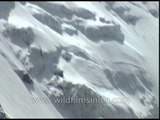The treacherous rock faces to the south of Nanda Devi West peak!