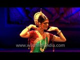 International dancer sazzles with Odissi dance form
