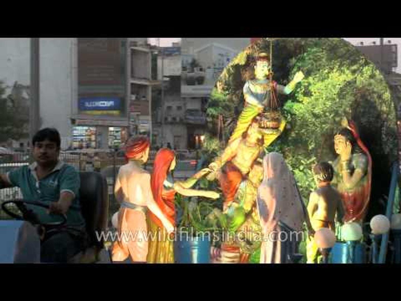 Religious Ganesh Chaturthi rallies with effigies