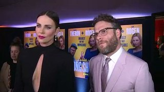 Charlize Theron and Seth Rogen learn what