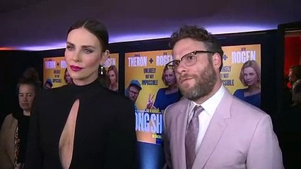 """Charlize Theron and Seth Rogen learn what """"snog"""" means!"""
