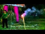 Lightening firecrackers galore on Dussehra