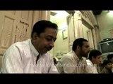 Family feasting on Bakri Id in Delhi
