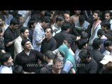 Self flagellation by the devout for Muharram