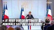 Les annonces d'Emmanuel Macron sur le niveau des retraites