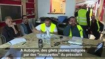 """Aubagne:des """"gilets jaunes"""" dénoncent des """"mesurettes"""" de Macron"""