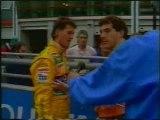 Ayrton Senna, Michael Schumacher crash Magny Cours 1992