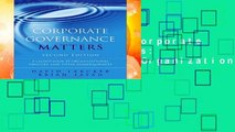 [MOST WISHED]  Corporate Governance Matters: A Closer Look at Organizational Choices and Their