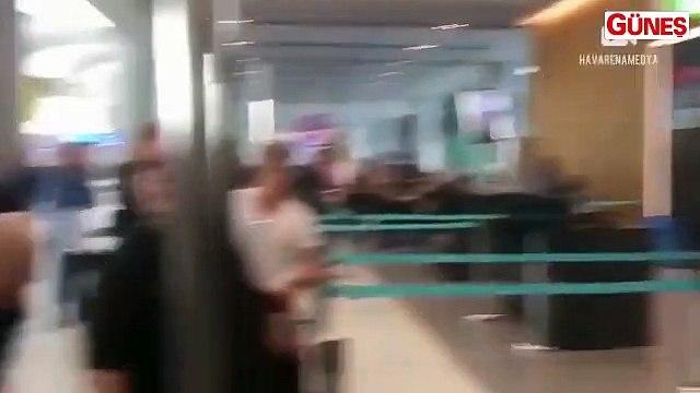 Havalimanında görevliye hakaretler yağdırdı