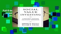 Full E-book  Social Value Investing: A Management Framework for Effective Partnerships (Columbia