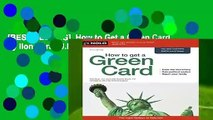 [BEST SELLING]  How to Get a Green Card by Ilona Bray J.D. Jd