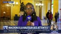 """Pour Danièle Obono (LFI), Emmanuel Macron s'est livré à """"un exercice de bavardage présidentiel"""""""