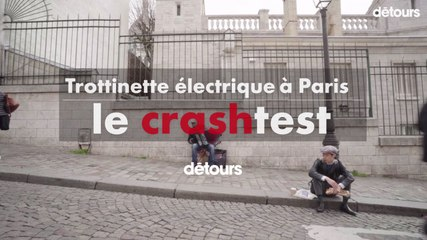 Trottinette électrique à Paris : le crashtest