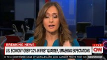 Breaking News: Alison Kosik comments on U.S. Economy grew 3.2% in first quarter, smashing expectations. @AlisonKosik #News #DonaldTrump #Economy #Breaking #BreakingNews