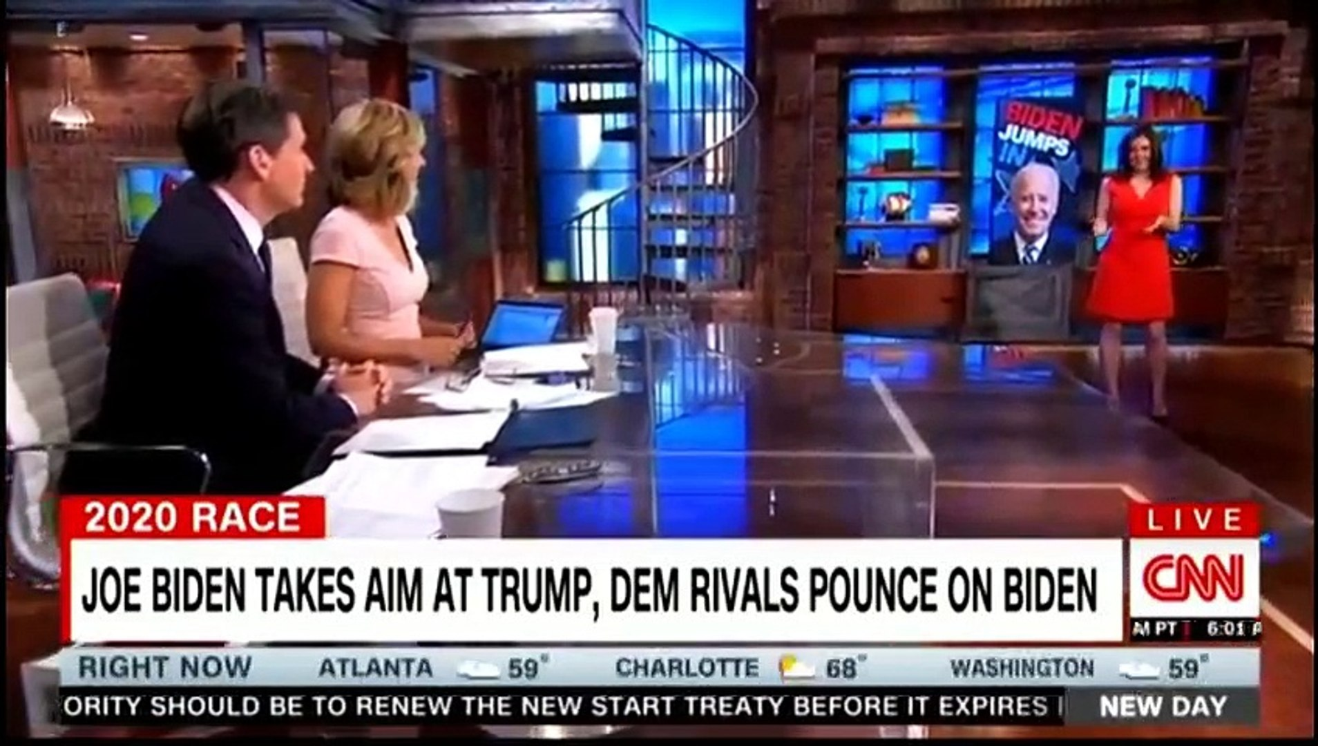 Trump Takes Shot At Biden's Intelligence After Campaign Launch - CNN New Day [10PM] 4-26-2019