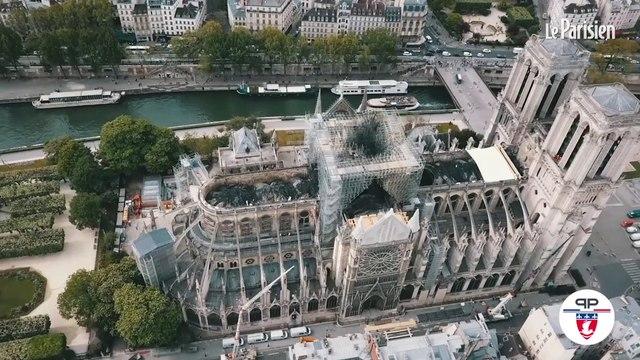 Notre-Dame : une bâche géante recouvre la cathédrale