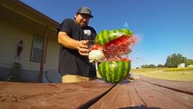 How many rubbers can you put around a watermelon before it explodes?