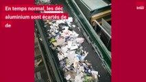 Le recyclage de l'aluminium au centre de tri de Nanterre