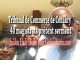 Tribunal de Commerce de Conakry : 40 magistrats prêtent serment