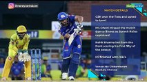 Rohit Sharma's maiden IPL 2019 fifty helps MI crush CSK by 46 runs