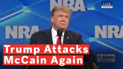 Trump Makes Another Veiled Attack On John McCain During NRA Speech