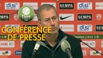 Conférence de presse AS Nancy Lorraine - AC Ajaccio (1-0) : Alain PERRIN (ASNL) - Olivier PANTALONI (ACA) - 2018/2019