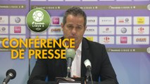 Conférence de presse Grenoble Foot 38 - AS Béziers (4-2) : Philippe  HINSCHBERGER (GF38) - Mathieu CHABERT (ASB) - 2018/2019