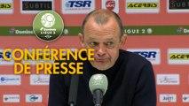 Conférence de presse Valenciennes FC - Chamois Niortais (1-2) : Réginald RAY (VAFC) - Pascal PLANCQUE (CNFC) - 2018/2019