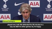 (Subtitled) 'West Ham goal reflects the difference' - Pellegrini