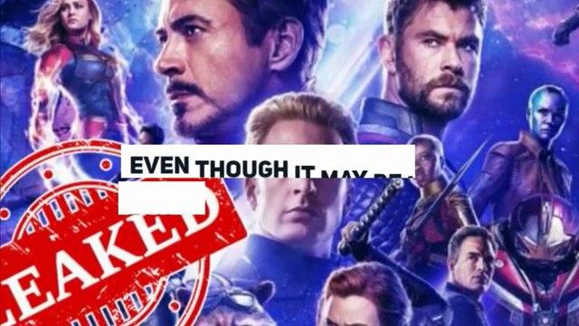 Avengers: Endgame Leaked Online Before Official Release